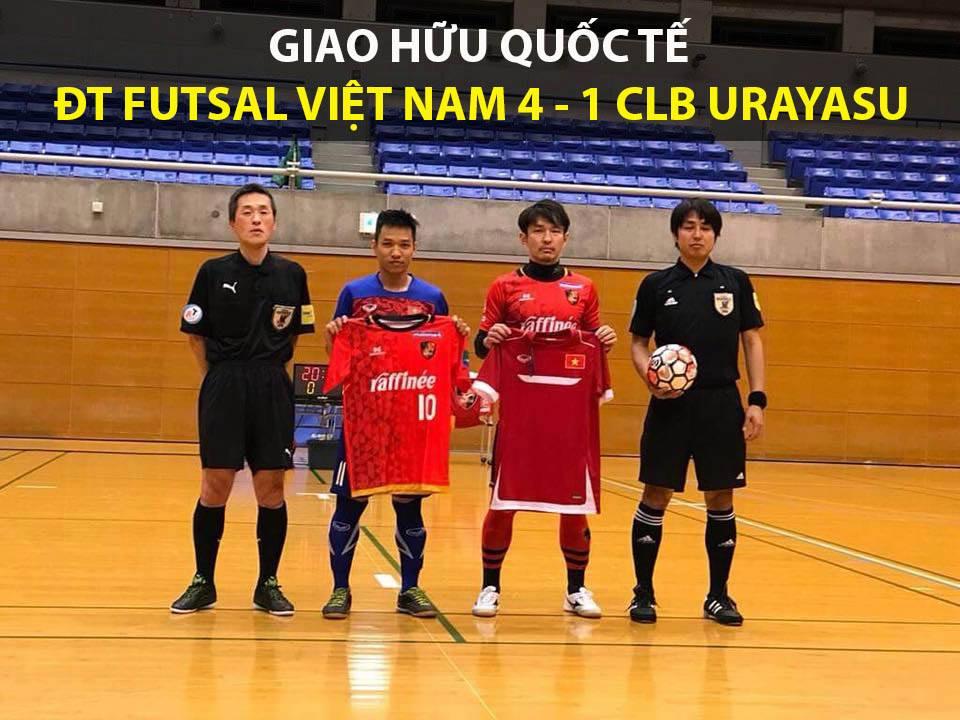 ĐT Futsal Việt Nam thắng trận giao hữu ra quân tại Nhật Bản
