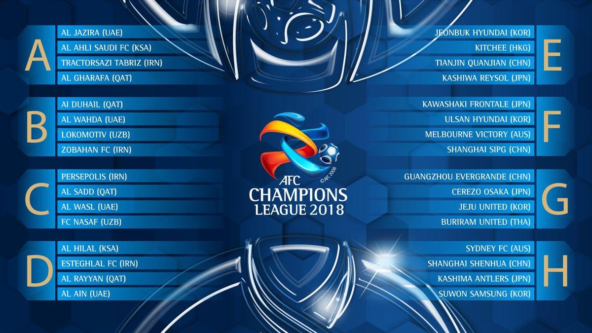 Trực tiếp AFC Champions League 2018 trên kênh nào?