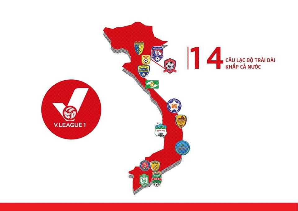 Tổng hợp Fanpage chính thức của tất cả các CLB tham gia V-League 2018