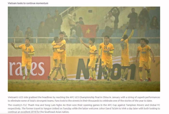 Sau kỳ tích tại U23 châu Á, AFC lại đưa bóng đá Việt Nam 'lên mây'