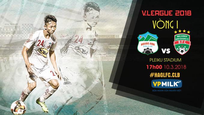 Lịch thi đấu lượt đi V-League 2018 của HAGL