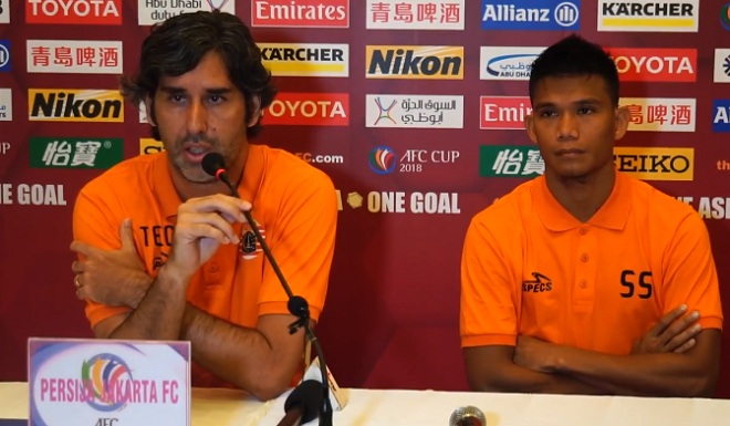 HLV Persija Jakarta muốn ngắt đứt mạch thắng của SLNA ở AFC Cup 2018
