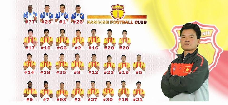 Danh sách cầu thủ Nam Định tham dự V League 2018