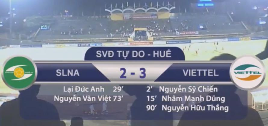 Kết quả U19 SLNA 2-3 U19 Viettel: Kịch tính phút chót, xứ Nghệ ôm hận