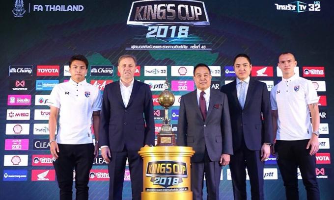 Lịch thi đấu và trực tiếp King's Cup 2018
