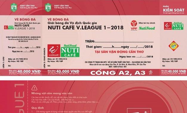 XSKT Cần Thơ công bố giá vé vào sân ở V League 2018