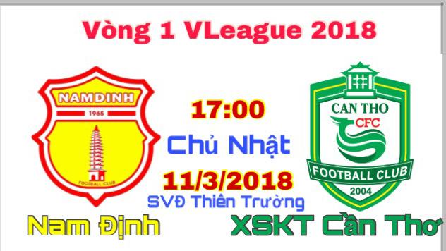 Giá vé xem trực tiếp Nam Định đá V League 2018 ở sân Thiên Trường