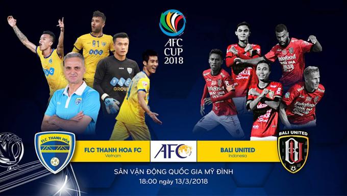 Trực tiếp FLC Thanh Hóa vs Bali United trên kênh nào?