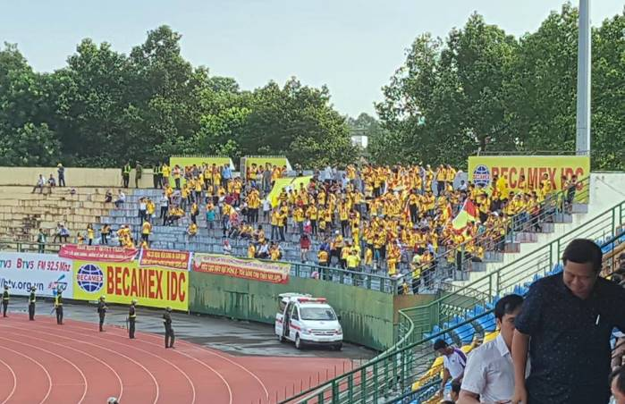 Thất thủ trên sân Bình Dương, CĐV Nam Định vẫn ghi điểm ở vòng 2 V-League 2018