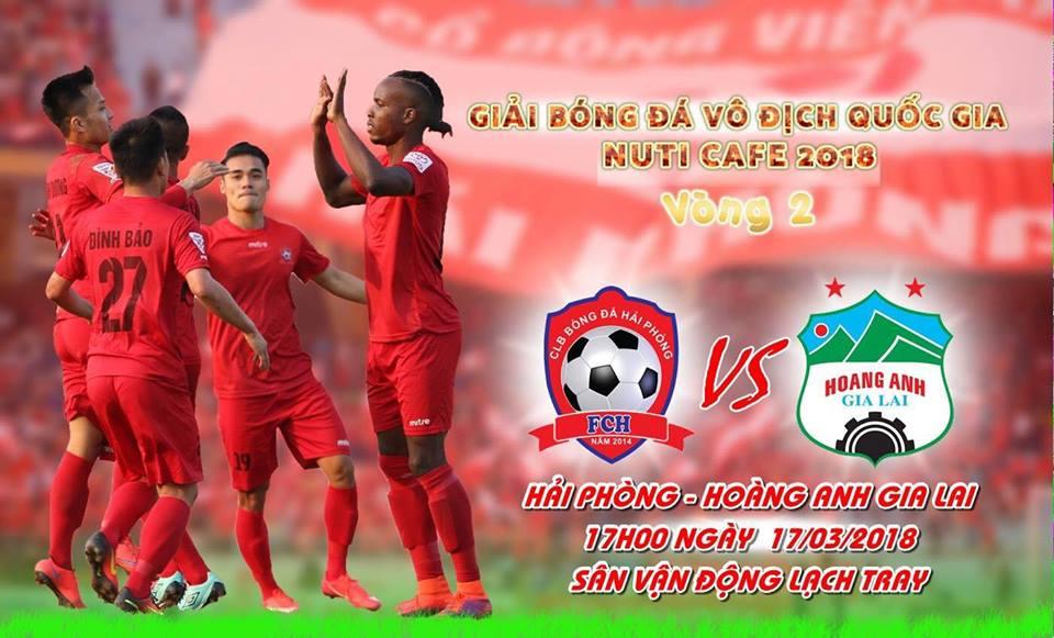 Giá vé sân Lạch Tray xem Hải Phòng vs HAGL ở V League 2018