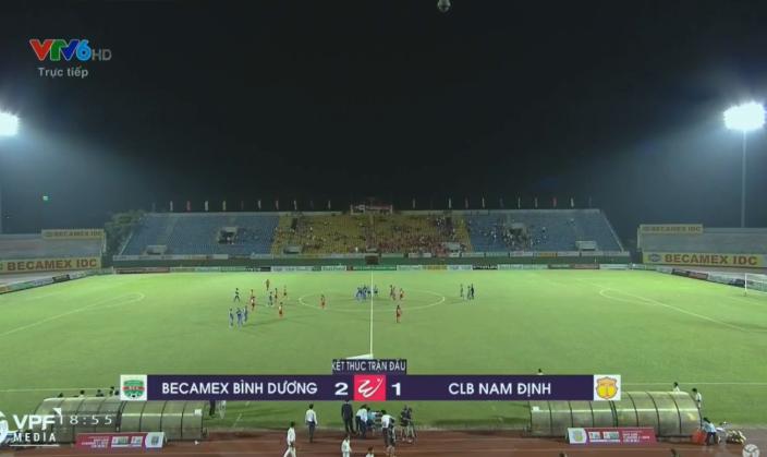 Kết quả B.Bình Dương vs Nam Định (FT 2-1): Đất Thủ ăn mừng thắng lợi đầu tay ở mùa giải