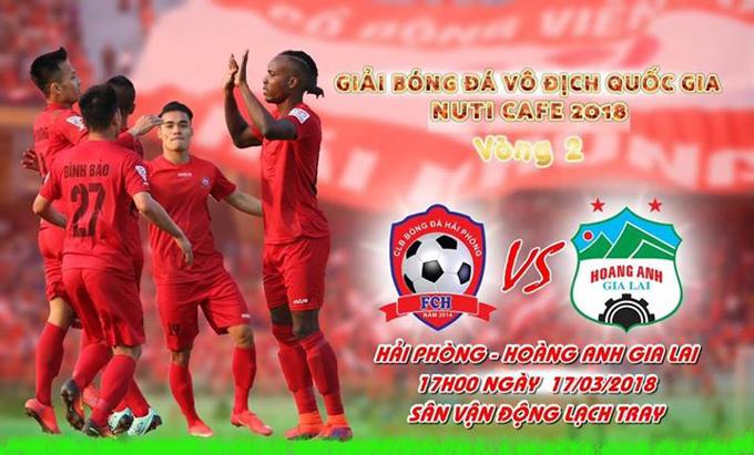 TRỰC TIẾP Hải Phòng vs HAGL, 17h00 ngày 17/3, vòng 2 V League 2018
