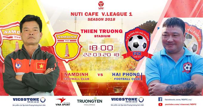 Lịch thi đấu và trực tiếp Nam Định vs Hải Phòng