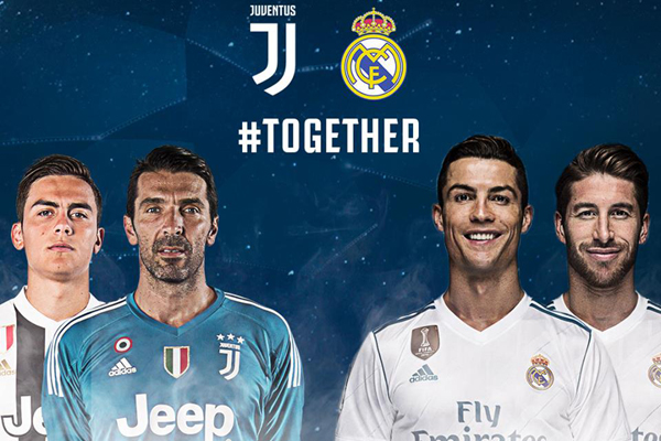 Trực tiếp Juve vs Real trên kênh nào?