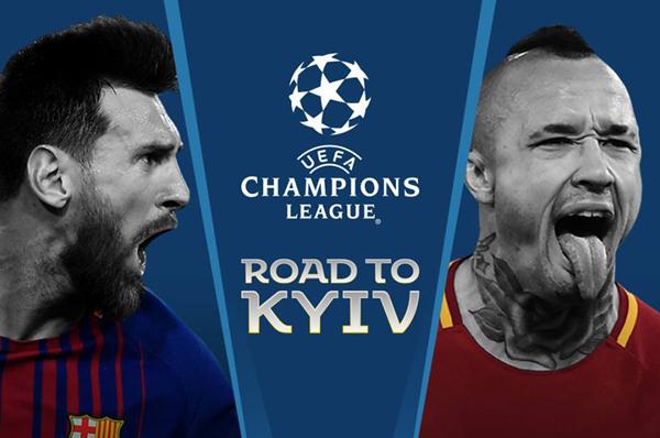 Trực tiếp Barca vs Roma trên kênh nào?
