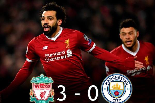 Kết quả bóng đá Cúp C1 châu Âu hôm nay 05/04: Liverpool 3-0 Man City