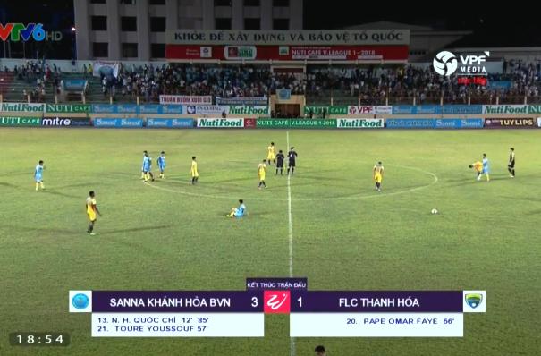 Kết quả Sanna Khánh Hòa vs FLC Thanh Hóa (FT 3-1): Thanh Hóa thảm bại