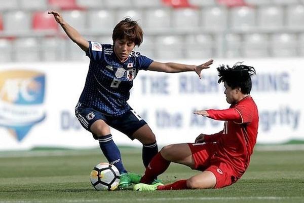 Video xem lại ĐT nữ Việt Nam và ĐT nữ Nhật Bản ở vòng bảng Asian Cup nữ 2018