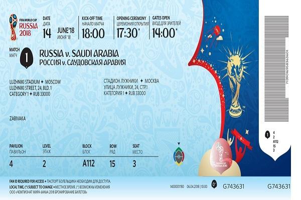Giá vé xem trực tiếp World Cup 2018 tại Nga