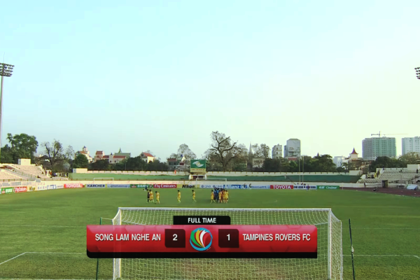 Kết quả SLNA vs Tampines Rovers (FT 2-1): SLNA 90% đi tiếp
