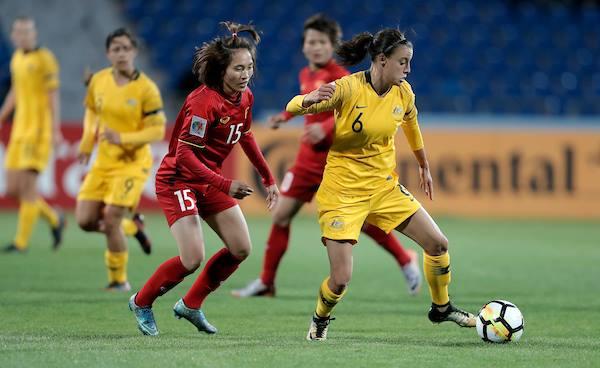 Kết quả Nữ Việt Nam 0-8 Nữ Úc, Bảng B Asian Cup Nữ 2018