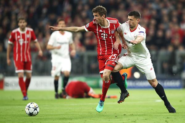 Kết quả Bayern Munich 0-0 Sevilla: Bayern vào bán kết Cúp C1