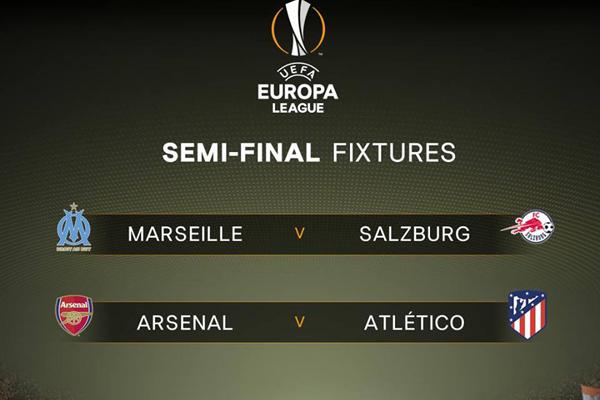 Lịch thi đấu bán kết Cúp C2 châu Âu Europa League 2017/18