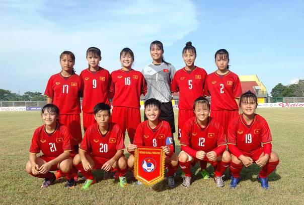 Bảng xếp hạng U16 nữ Đông Nam Á của ĐT Việt Nam