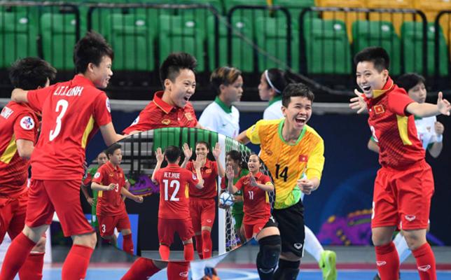 Lịch thi đấu bán kết Futsal nữ châu á 2018: Việt Nam vs Iran