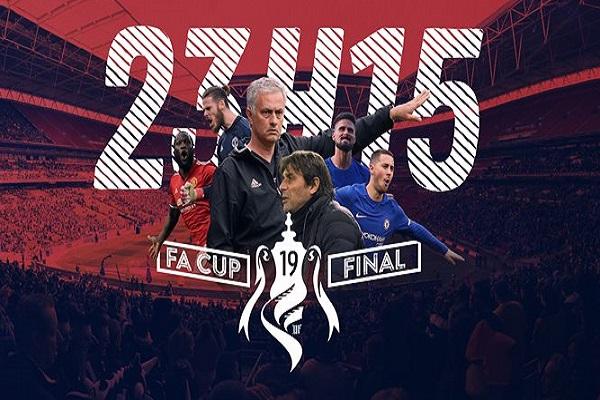 Trực tiếp chung kết FA Cup MU vs Chelsea trên kênh nào?