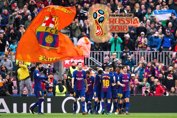 Danh sách cầu thủ Barca tham dự World Cup 2018
