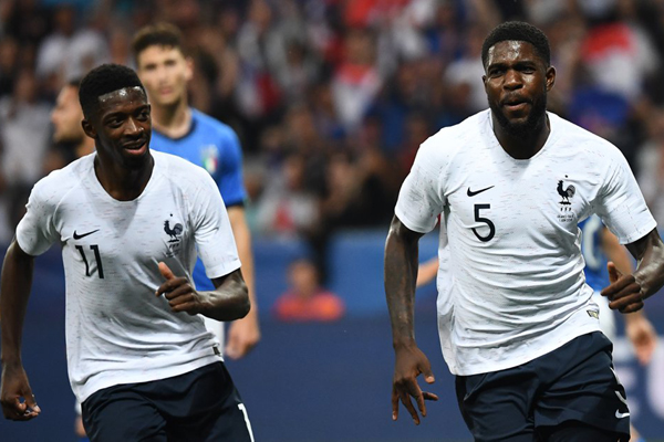 Xem lại video bàn thắng Pháp vs Italia: Griezmann và Dembele tỏa sáng