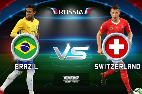 Lịch World Cup hôm nay (17/6): Brazil vs Thụy Sĩ