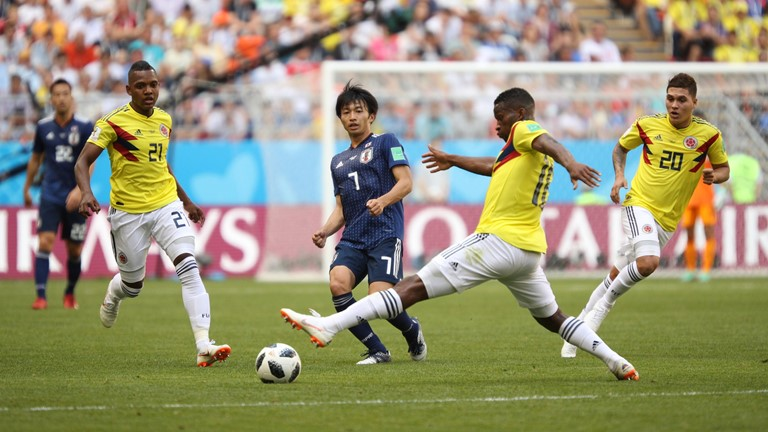 Kết quả Colombia vs Nhật Bản: Kagawa nổ súng, Nhật Bản giành 3 điểm đầu tay