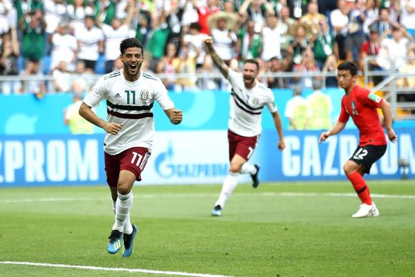 Kết quả Hàn Quốc 1-2 Mexico: Chicharito giúp Mexico tiếp tục dẫn đầu bảng F World Cup 2018