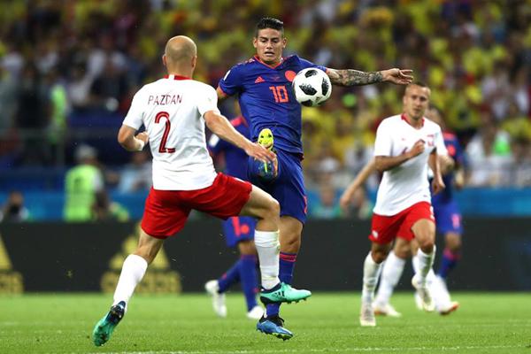 Kết quả bóng đá hôm nay (25/6): Ba Lan 0-3 Colombia
