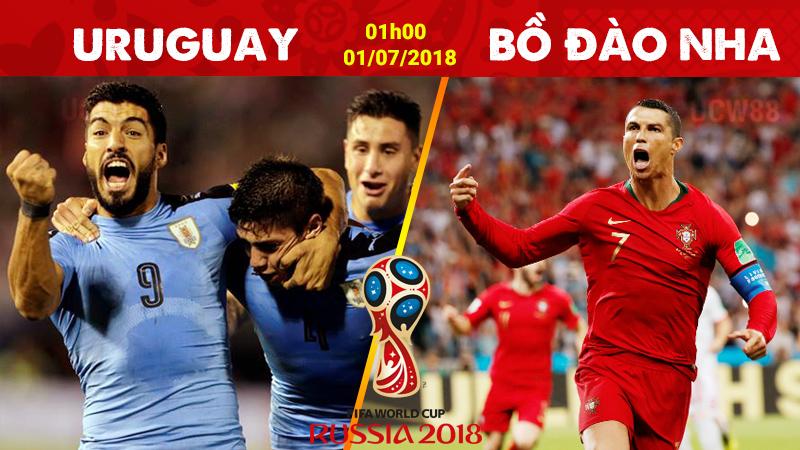 Nhận định Uruguay vs Bồ Đào Nha, 01h00 ngày 01/7 (Vòng 1/8 World Cup 2018)
