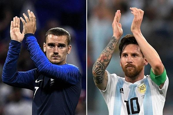 Lịch thi đấu vòng 1/8 World Cup 2018: Đại chiến Pháp vs Argentina