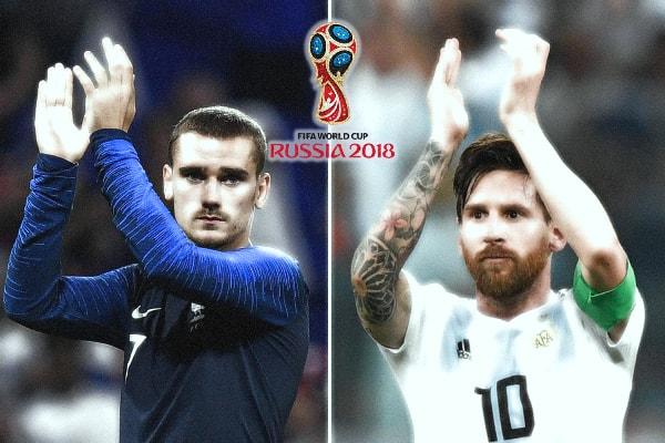 Kênh chiếu vòng 1/8 World Cup 2018: Pháp vs Argentina