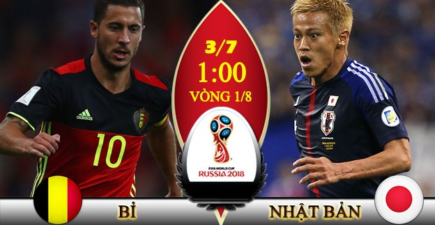 Nhận định Bỉ vs Nhật Bản, 01h00 ngày 03/7 (Vòng 1/8 World Cup 2018)