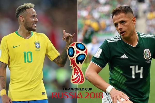 Lịch thi đấu World Cup hôm nay (2/7): Brazil vs Mexico