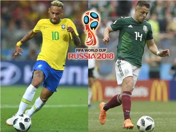 Lịch phát sóng World Cup hôm nay 2/7: Brazil vs Mexico