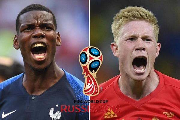Lịch thi đấu bán kết World Cup 2018: Pháp vs Bỉ