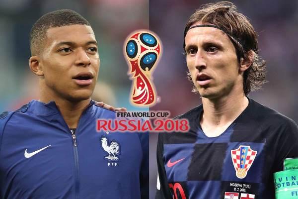 Thông tin lực lượng trước chung kết World Cup 2018