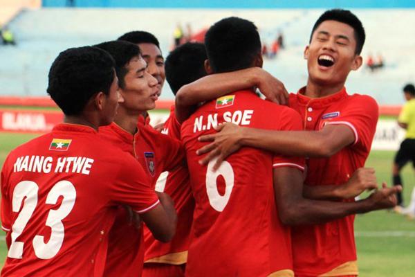 Kết quả U16 Myanmar 4-1 U16 Campuchia, bảng A U16 Đông Nam Á 2018