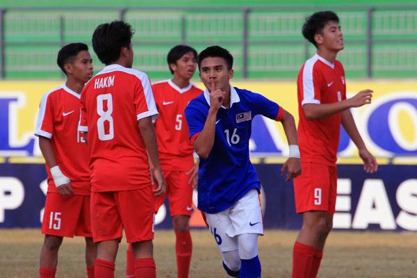 Kết quả U16 Malaysia 4-0 U16 Singapore: Chiến thắng dễ dàng