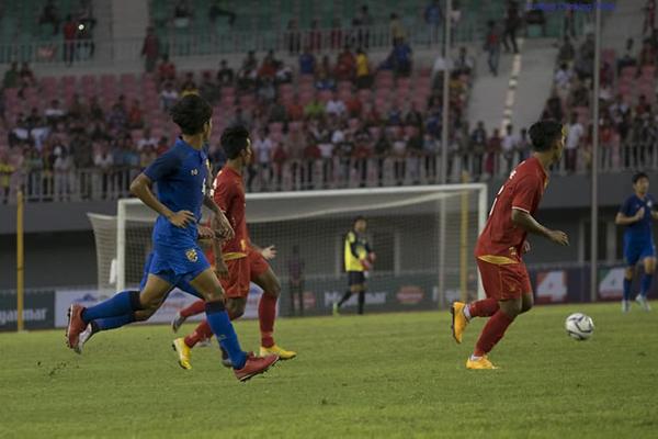 Kết quả U23 Thái Lan 1-2 U23 Myanmar: U23 Thái Lan bảo toàn thành tích toàn thua tại Alpine Cup 2018