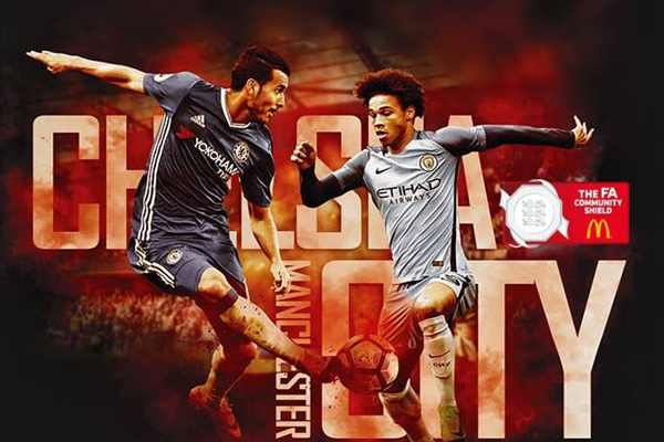 Lịch thi đấu bóng đá hôm nay (5/8): Man City vs Chelsea