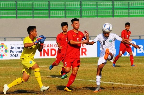 Video bàn thắng U16 Việt Nam vs U16 Myanmar (U16 Đông Nam Á 2018)