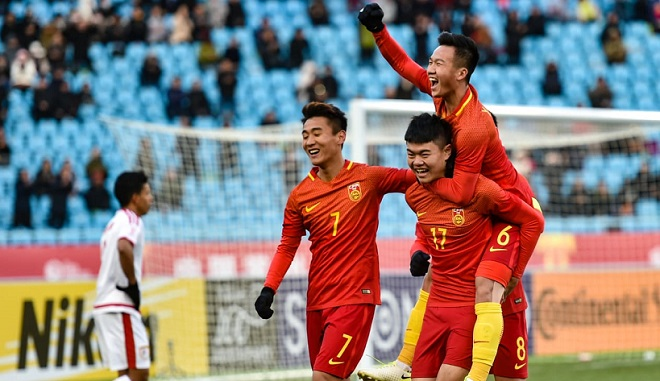 Diễn biến U23 Trung Quốc 6-0 U23 Timor Leste (bóng đá nam ASIAD 2018)